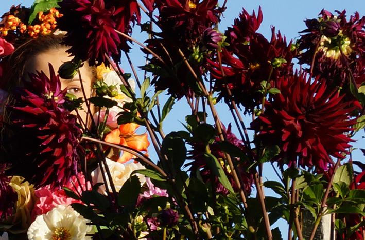 Ella Eade as Flora, Botanical Gardens Portland Victoria Australia. photograph by James Wallace 2014